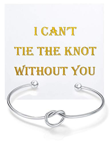 (Chicnow Bridesmaid Gifts Love Knot Bracelet Set of 1)