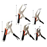 KOTTO 5 Pack Set Locking Pliers Set, 5 Inch, 7 Inch