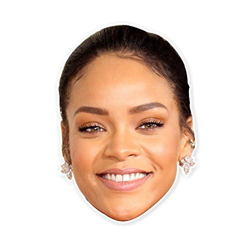 Happy Rihanna Mask - Perfect for Halloween, Masquerade, Parties, Events, Concerts - Jumbo Size Waterproof for $<!--$15.95-->