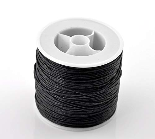 Black Waxed Cotton Cord 0.5mm Dia 80M Laliva 1Roll DIY Jewelry Findings for Bracelet Necklace High Quality Accessories