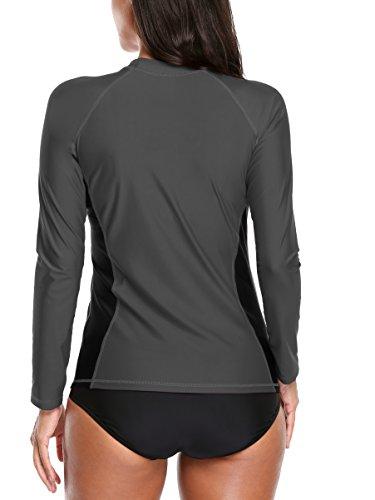 da protezione Bades a Grau Rashguard 50 donna UV con UV maglietta Alove nbsp; lunghe maniche FqwZTZ