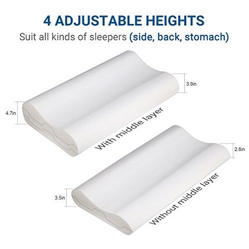 Uttu Sandwich Pillow Adjustable Memory Foam Pillow