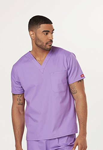 Everyday Scrubs Signature By Dickies Unisex V-Neck Top Small Sparkling Plum