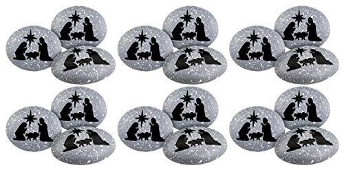 Resin Holy Family Pocket Keepsake Stone, Pack of 18, 2 Inches