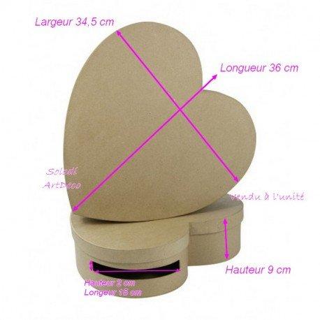 Grande Salvadanaio Cuore cartoncino, Urna a Buste 9x 34,5x 36cm, da personalizzare Décopatch