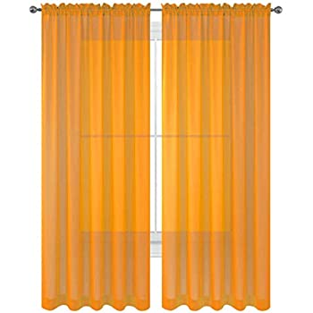 WPM WORLD PRODUCTS MART Drape/Panels/Treatment Beautiful Sheer Voile Window Elegance Curtains for Bedroom & Kitchen, 57