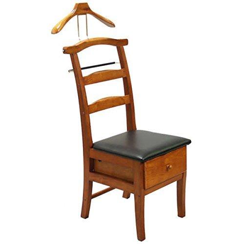 (Executive Light Walnut Valet Chair Sturdy Hardwood)