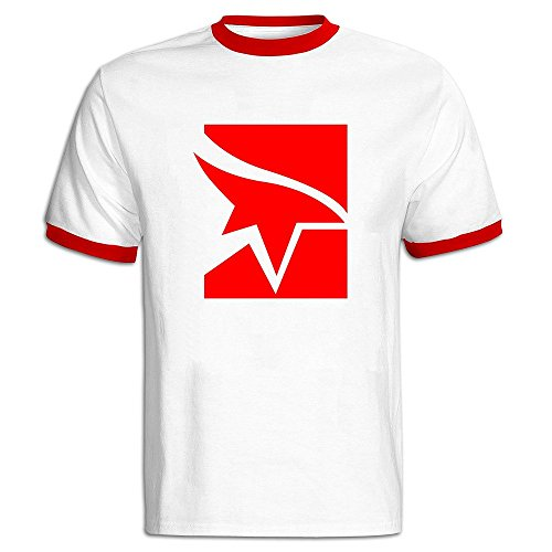 Price comparison product image Fashion Mens Mirrors Edge Contrast Ringer Tee Shirt Large
