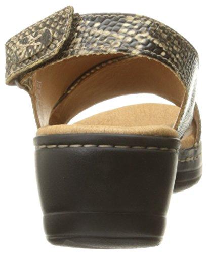 Clarks Hayla cielo vestido de la sandalia Beige Synthetic