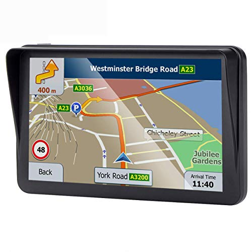 7 inches Car GPS, Navigation System for Cars SAT NAV Lifetime Map Updates Real Voice Direction Vehicle GPS Navigator