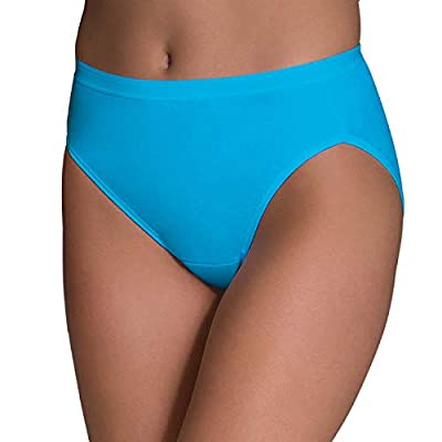 Fruit of the Loom Women's Tag Free Cotton Hi Cut Panties (Regular & Plus Size) at Women's Clothing store