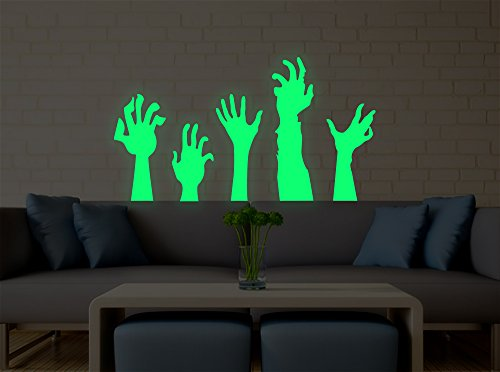 Marsway Halloween Decor Creative PVC Luminous Wall Sticker Fluorescent Decorative Night Glow Decal for Halloween Party (Ghost (Decorativos De Halloween)