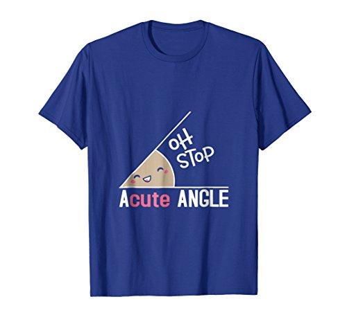 Mens Acute Angle Geometry Shirt Medium Royal Blue ()