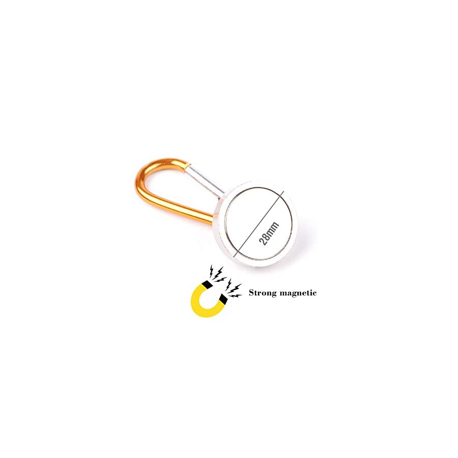 Outdoor Strong Magnet Offer Hand Tool Parts Brush Cutter Fortable Key Ring Holder Chain Cable Carabiner Clip ,Aluminium Alloy,2PCS Per Set