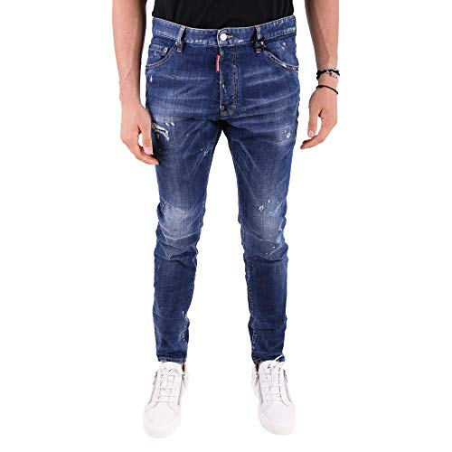 Dsquared2 S71lb0497s30342470 Cotone Jeans Blu Uomo vvOH1