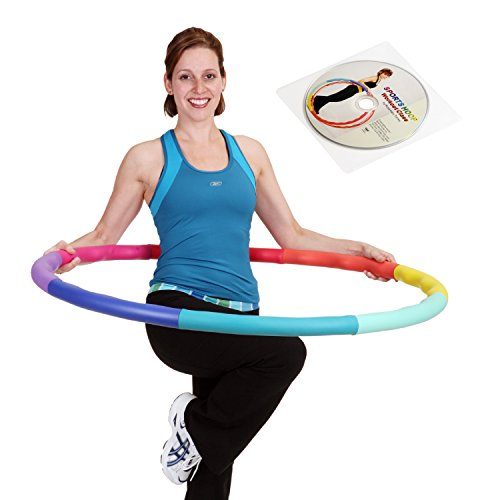 "Sports Hoop® - Acu Hoop® 5L - 4.9lb (Dia.41.5"") Large, Weighted Hula Hoop for Workout with 50 minutes Workout Lesson DVD"