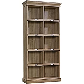 Amazon Com Sauder Barrister Lane Bookcase In Salt Oak Kitchen