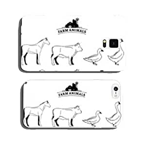 Vector Farm Animals Isolated on White cell phone cover case iPhone5