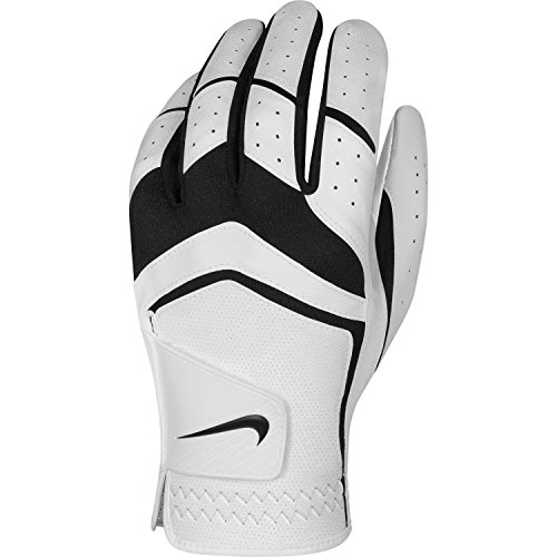 Nike Men's Dura Feel Golf Glove (White), Medium-Large, Left Hand