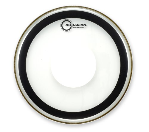 Aquarian Drumheads PFPD20 Performance-2 with Dot 20-inch Bass Drum Head, with Dot