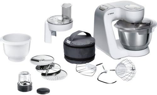 Bosch MUM58235 1000W 3.9L Blanco - Robot de cocina (3,9 L, Blanco, Botones, Giratorio, 2,7 L, 1,8 L, 3 discos): Amazon.es: Hogar