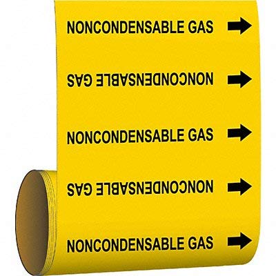Brady Pipe Marker Noncondensable Gas YEL