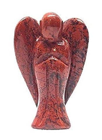 Red Jasper Gemstone Pocket Guardian Healing Angel Figurine | 1.6