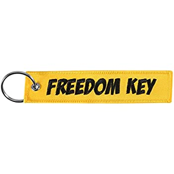 UTV Car KEYTAILS Keychains Premium Quality Key Tag for Motorcycle Scooter Warning May Cause Hearing Damage - Yellow ATV