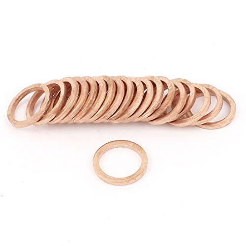 20x Copper Sealing Ring Flat Ring Seal Fitting 13.5 mm x 17.5 mm x 2 mm