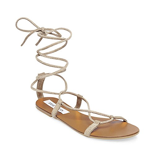 Steve Madden Women's Shelly Taupe Suede Sandal 9.0 US