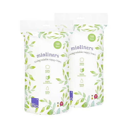 Bambino Mio, Mioliners (Biodegradable Diaper Liners), 2 Pack (Bambino Liners Mio)