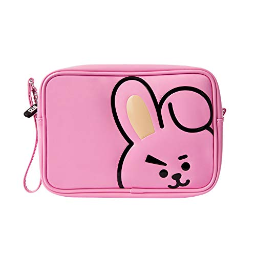 BT21 Official Merchandise by Line Friends - COOKY Enamel Cosmetic Bag Travel Pouch for Toiletry and Makeup