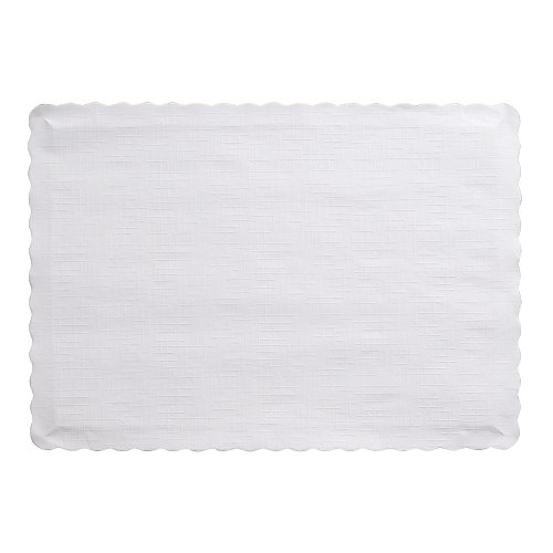 Creative Converting 50 Count Touch of Color Paper Placemats, White (Paper Place Mats)