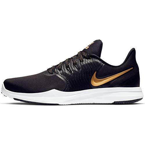 Gold Nike Sneakers - Nike Women's in-Season TR 8 Training Shoe Black/Met Element Gold Size 9.5 M US