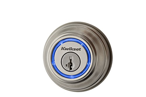Kwikset Smart Key Lock (Kwikset Kevo (2nd Gen) Touch-to-Open Bluetooth Smart Lock, Works with Amazon Alexa via Kevo Plus, in Satin Nickel)