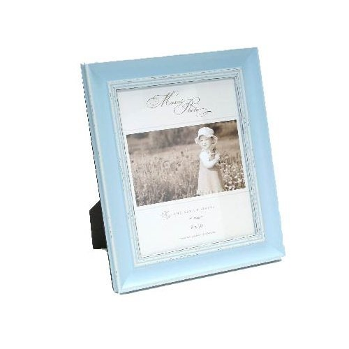 Maxxi Designs Photo Frame with Easel Back, 4 x 6, Pastel Blue Verona