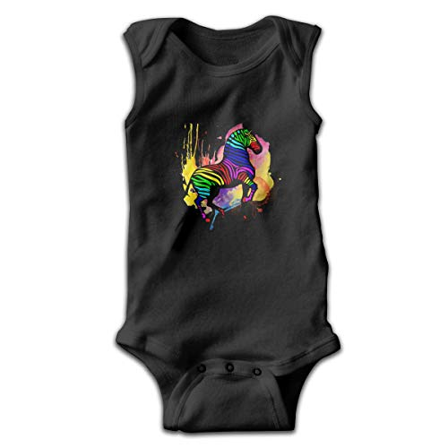 Rainbow Zebra Funny Infant Romper Jumpsuit Baby Layette Bodysuit Kids'