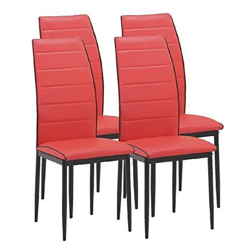 Trend Esszimmerstühle 4A Essen Kunstleder rot