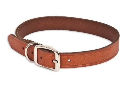 Ruff Maxx 10831 Leather Dog Collar, 22-Inch, Brown, My Pet Supplies
