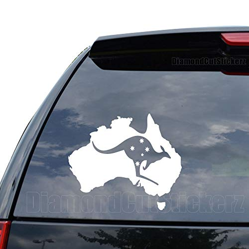 (Australian Southern Cross Stars Decal Sticker Car Truck Motorcycle Window Ipad Laptop Wall Decor - Size (09 inch / 23 cm Wide) - Color (Gloss White))