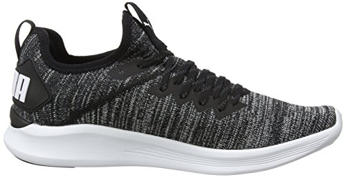 Puma Herren Ignite Flash Evoknit Cross-Trainer Outdoor Fitnessschuhe Schwarz (Puma Black-Asphalt-White)