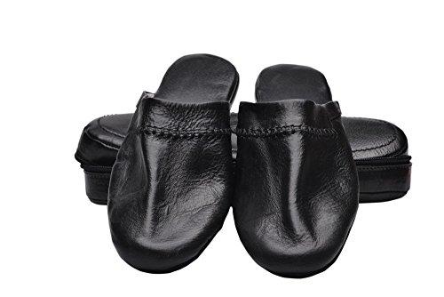 Di Berardino - Zapatillas de estar por casa de Piel para mujer negro negro