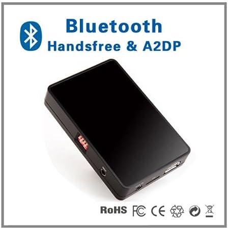 Manos libres para coche con perfil Bluetooth A2DP con adaptador a interfaz de reproductor CD, Compatible con Audi A2,A3,A4,S4 yTT de 1998- 2006