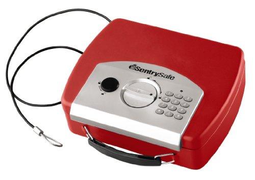 SentrySafe, Caja de seguridad compacta electrónica de 0,08 pies cúbicos Rojo