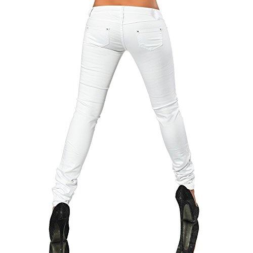 Blanco Skinny para Diva Básico Mujer Jeans Vaqueros EIqgnYwYOT