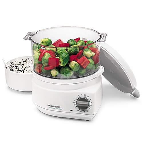 Black and Decker HS800 Handy Steamer Plus Food Steamer and Rice (Best Black & Decker Rice Cookers)