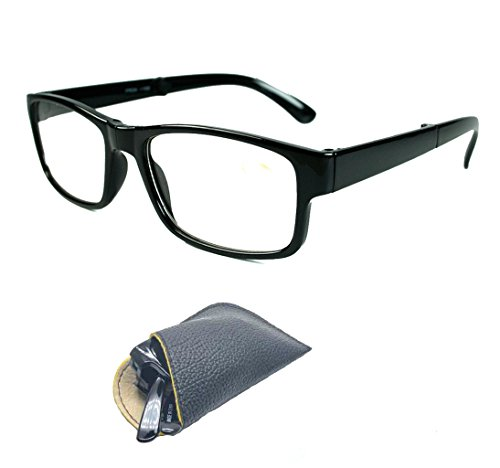Folding Slim With Case Readers Women Reading Glasses +1.00 1.25 +1.50 +1.75 +2.00 2.25 +2.50 +3.00 3.50 (SELECTION: Black +1.75)