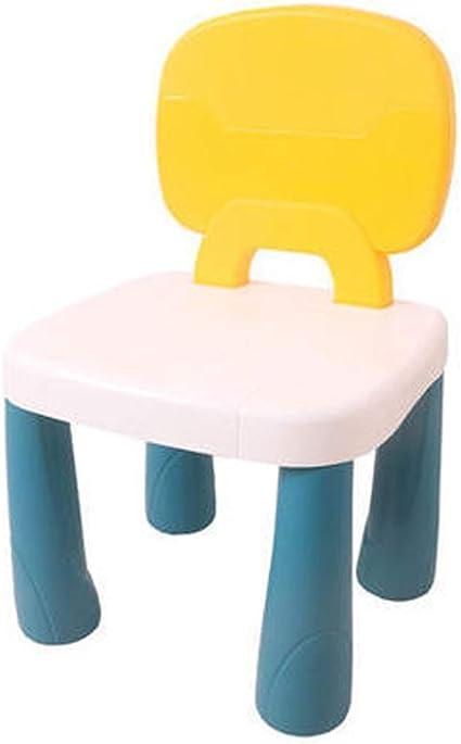 Silla infantil con respaldo de plástico grueso portátil, para escribir en casa, estudiar, comer, jardín de infantes, multicolor, 4 Baibao: Amazon.es: Coche y moto