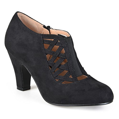Journee Collection Womens Round Toe High Heel Booties Black, 11 Wide Width US