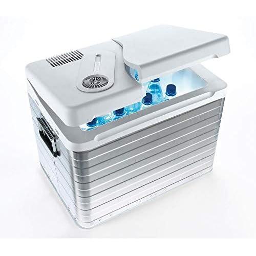 Mobicool Q40 AC DC Nevera termoeléctrica portátil conexiones 12 230 V 39 litros de capacidad color aluminio